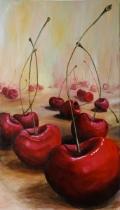 My Cherry Fantasy. oil on canvas.